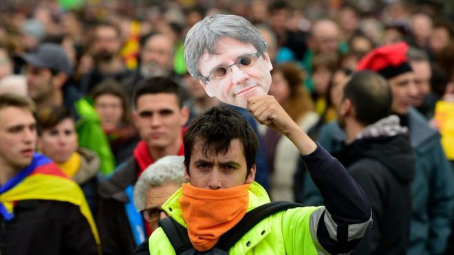 puigdemont protests